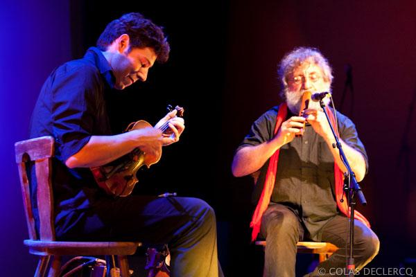 JOUTES MUSICALES 198 03 Aout / Tovabb duo pere fils de jazz et musique improvisee